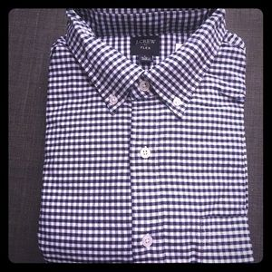 Flex oxford j crew factory shirt in gingham
